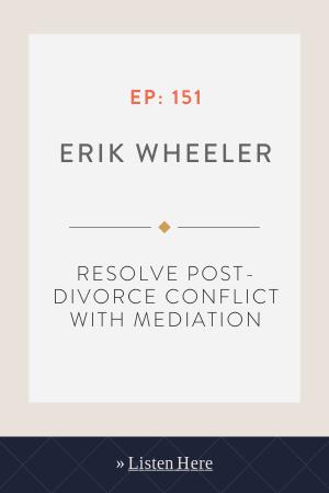 Resolve Post-divorce Conflict With Mediation with Erik Wheeler